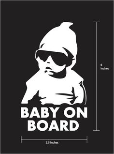 US New In Baby Baby Safety Health Car Window Signs - Car sticker decal for girls