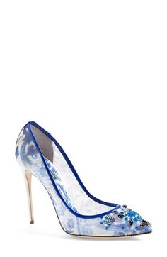 When you fall in love with a shoe...My idea of a modern take on Cinderella's glass slipper Dolce&Gabbana 'Maiolica' Pump (Women) available at #Nordstrom