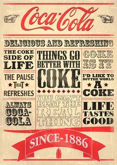 Coca Cola Typography by Nicholas Ainsworth