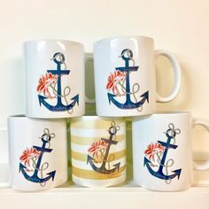 "31 Likes, 2 Comments - Haylily Designs (@haylily_) on Instagram: ""Customizable anchor mugs on the website! This #Haylily favorite is such a meaningful symbol for so…"""