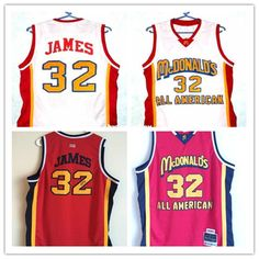 bc9e3b2f1 Cheap 32  McDonald ALL AMERICAN high quality basketball jerseys Customize  player name and number of any size Men s Jerseys NCAA