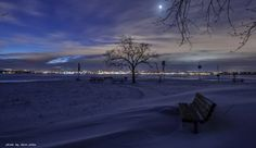 The moon and the stars shine above Erie this morning. 01/26/2014.