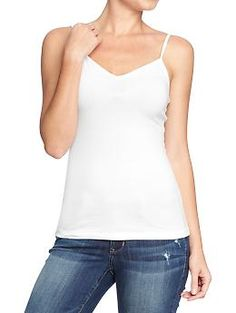 Womens V-Neck Camis Color: Bright White $4.50 $3.00 different colors
