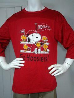 Vintage Peanuts Schulz Jersey Snoopy & Woodstock Indiana Go Hoosiers Artex XL in Collectibles, Animation Art & Characters, Animation Characters | eBay