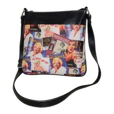 Women's Marilyn Forever Beautiful Collage Messenger Bag MM611