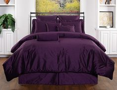 Victor Mill Royal Manor Purple Comforter Set - King by Victor Mill Bedding Purple Comforter, Purple Bedding Sets, Purple Bedrooms, Best Bedding Sets, Bedding Sets Online, King Comforter Sets, Queen Comforter Sets, Designer Comforter Sets, My New Room