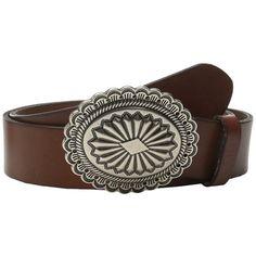 LAUREN by Ralph Lauren Classics 1/2 Concha Belt Women's Belts ($72) ❤ liked on Polyvore featuring accessories, belts, 100 leather belt, real leather belts, leather buckle belt, leather belt and genuine leather belt