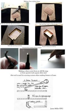 How to use a scoring tool to make a box by Jim Miller