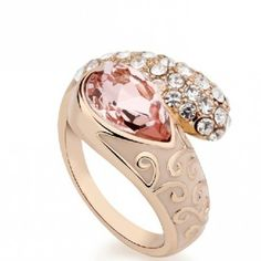 Luxurious Crystal Women Ring #ring    Interesting shape