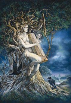 Samhain by Severine Pineaux. Oil on canvas