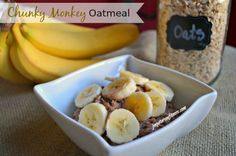 Busy Mom Committed to Getting Healthy: Healthy Breakfast Recipe: Chunky Monkey Oatmeal