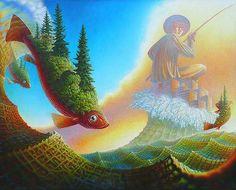 Jeff Mihalyo | Artist |  2013 painting  |  Fisherman