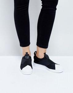 adidas Originals Black Slip On Superstar Sneakers