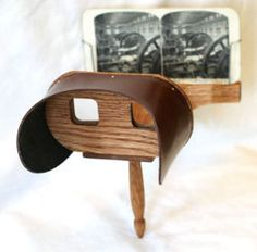 A stereoscope is a device for viewing a stereoscopic pair of separate images, depicting left-eye and right-eye views of the same scene, as a single three-dimensional image.  Learn more: http://www.3dwiggle.com/examples/side-side/
