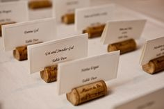 """This is an awesome idea that would go with all the wine Barry is making and if you go with the clear wine bottles as center pieces. It is 200 of them for $300 (includes shipping). This is from the """"recycled wedding"""" site that I also posted on this board (Ruffled). MC"""