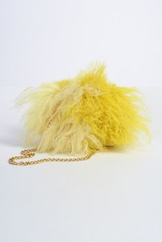 Fur Fluff Ball Ship fur shoulder bag