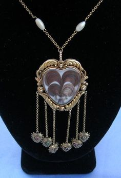 necklace - Hair Heart and Gold