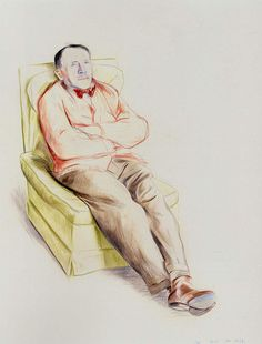 The artist's father - David Hockney, David Hockney Portraits, David Hockney Art, David Hockney Paintings, Peter Blake, Life Drawing, Painting & Drawing, Figure Drawing, Drawing Reference, Art