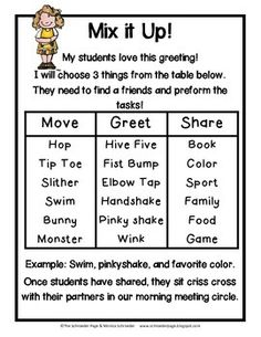 Gonoodle the morning meeting kind a morning meeting manual ideas and activities m4hsunfo