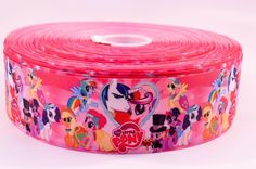 "3"" Wide My Little Pony Printed on Grosgrain Cheer Bow Ribbon"