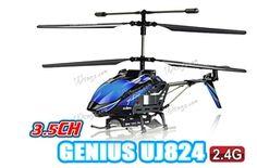 """YIBOO UJ824 Medium 3 Channel 14"""" RC Helicopter w/ Gyro $59.99"""