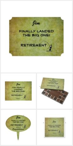 Retirement Party Invitations, Supplies and treats for Retiring Fly Fishing Anglers: 'Finally Landed the Big one! - Retirement'