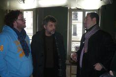 Stéphane Guillon et Pierre Richard en tournage à Bruxelles... -  Brussels, Belgium