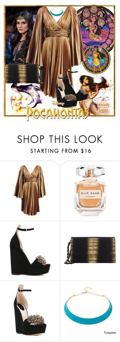 """Pocahontas made with Elie Saab"" by iandcheshirecat on Polyvore featuring moda, Disney, Elie Saab, Alexa Starr, dress, disney, ElieSaab, disneybound e disneycharacter"