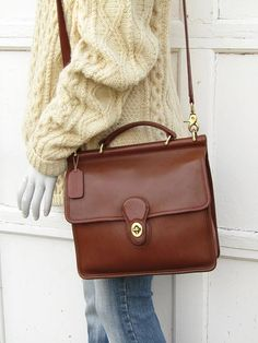 4839b90eeb22 Vintage Coach Bag Coach Messenger Bag in British Tan Leather Leather Totes