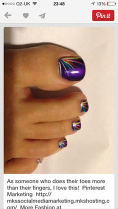 Purple nail art