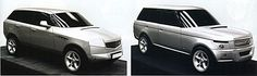 Range Rover Mk3 - Early scale models proposals