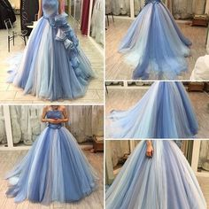 Gorgeous Ball Gown,Strapless Tulle Prom Dress,4196