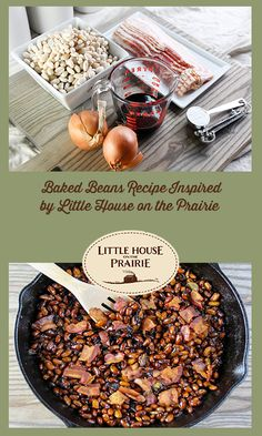 Baked Beans Recipe Inspired by Little House on the Prairie - Little House on the Prairie Baked Beans Inspired by Little House on the Prairie Home Recipes, Cooking Recipes, Healthy Recipes, Easy Recipes, Picnic Date Food, Baked Bean Recipes, Paleo, Baked Beans, Vintage Recipes