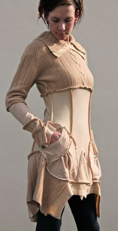 upcycled sweater dress  *drooling*