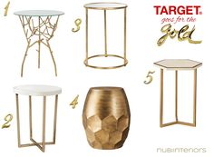 Side Tables Dont Have To Be Expensivethis Brass Spindly Threshold - Brass side table target