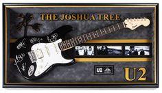 U2 Signed Guitar The Joshua Tree Custom Framed
