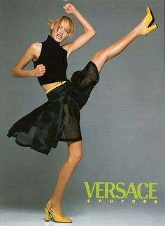 Claudia Schiffer by Richard Avedon for Versace ad