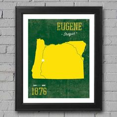University of Oregon Print by UniversityPrints on Etsy, $12.00
