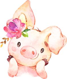 Pig nursery prints set of 3 whimsical art for kids room pig baby shower decorations kids playroom decor classroom decor girls nursery Watercolor Animals, Watercolor Art, Watercolor Flowers, Animal Drawings, Cute Drawings, Baby Animals, Cute Animals, Pig Art, Girl Baby Shower Decorations