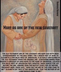Mary is the New Ark of The Covenant. Source: The Catholic Study Fellowship.
