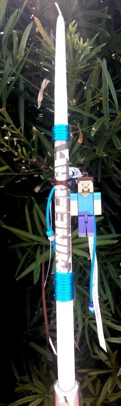 Minecraft easter candle 2015 $20 Easter Candle, Minecraft, Candles, Outdoor Decor, Home Decor, Decoration Home, Room Decor, Pillar Candles, Lights