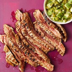 Grilled Steak with Avocado Salsa Verde - Rachael Ray Every Day