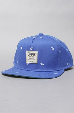 Crooks and Castles The Paisley Snapback Hat in Cobalt : Karmaloop.com - Global Concrete Culture