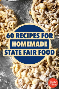 60 State Fair Foods You Can Recreate at Home Bring the fairgrounds to your own backyard. - 60 Recipes for Homemade State Fair Food Mexican Food Recipes, Snack Recipes, Cooking Recipes, Cooking Ham, Dessert Recipes, Fudge, State Fair Food, State Fair Party, Carnival Food