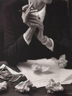 a woman who writes.