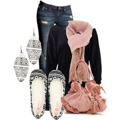 """""""Aztec Pink and Black"""" by maizie2020 on Polyvore"""