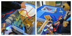 occupational therapy activities fine motor skills using tape loose parts sculptures