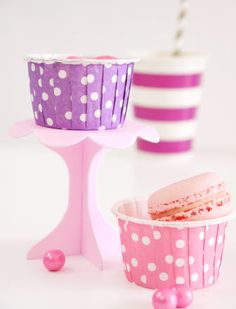 Cupcake Serveware - PARTY SUPPLIES - Shop for Mini Cupcake Pedestal Stands from Bird's Party Shop (($))