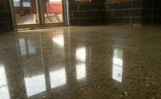Polished Concrete Floor Doncaster – CARRcrete InfinityFloor Gloss Stone Polished Concrete, Concrete Floors, Tile Floor, Flooring, Stone, Kitchen, Projects, Log Projects, Rock
