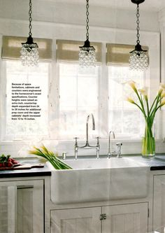 Like the idea of chandelier(s) above the sink